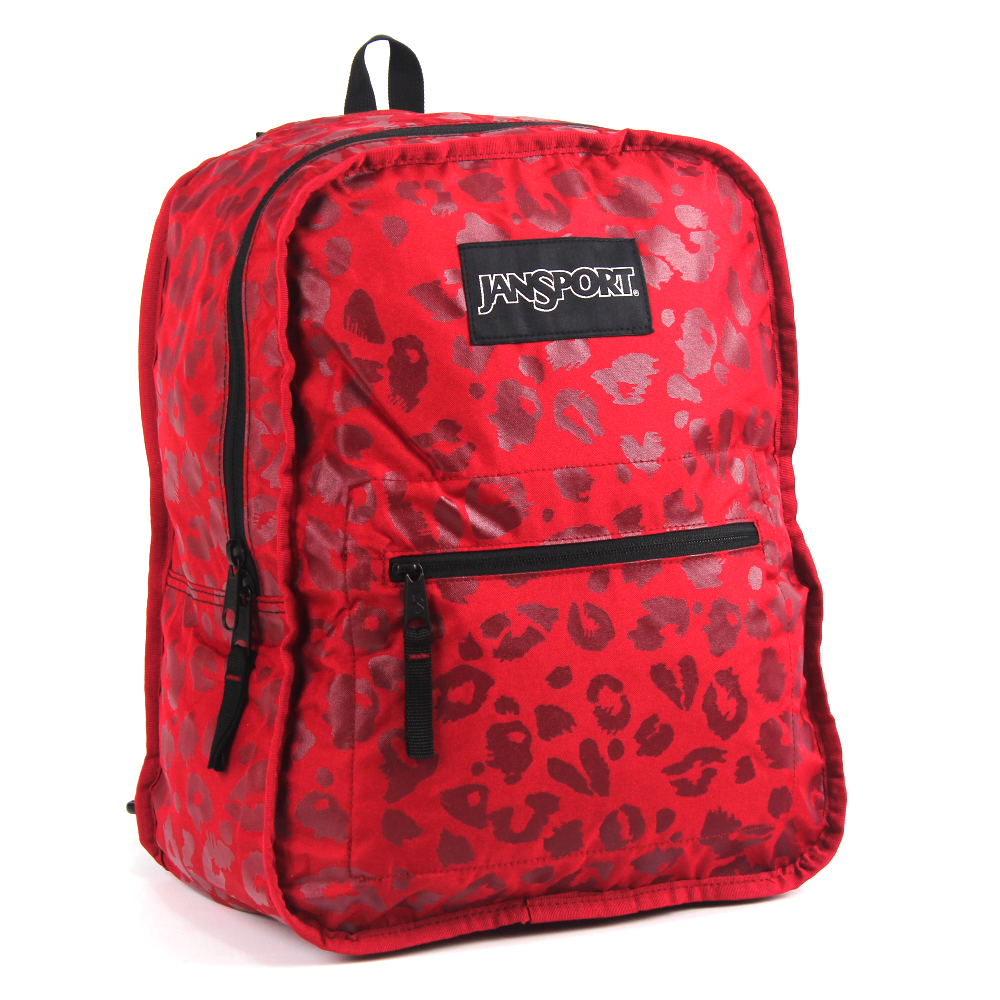 JanSport校園背包(INNER BEAST COLLECT)-紅/虎斑紋
