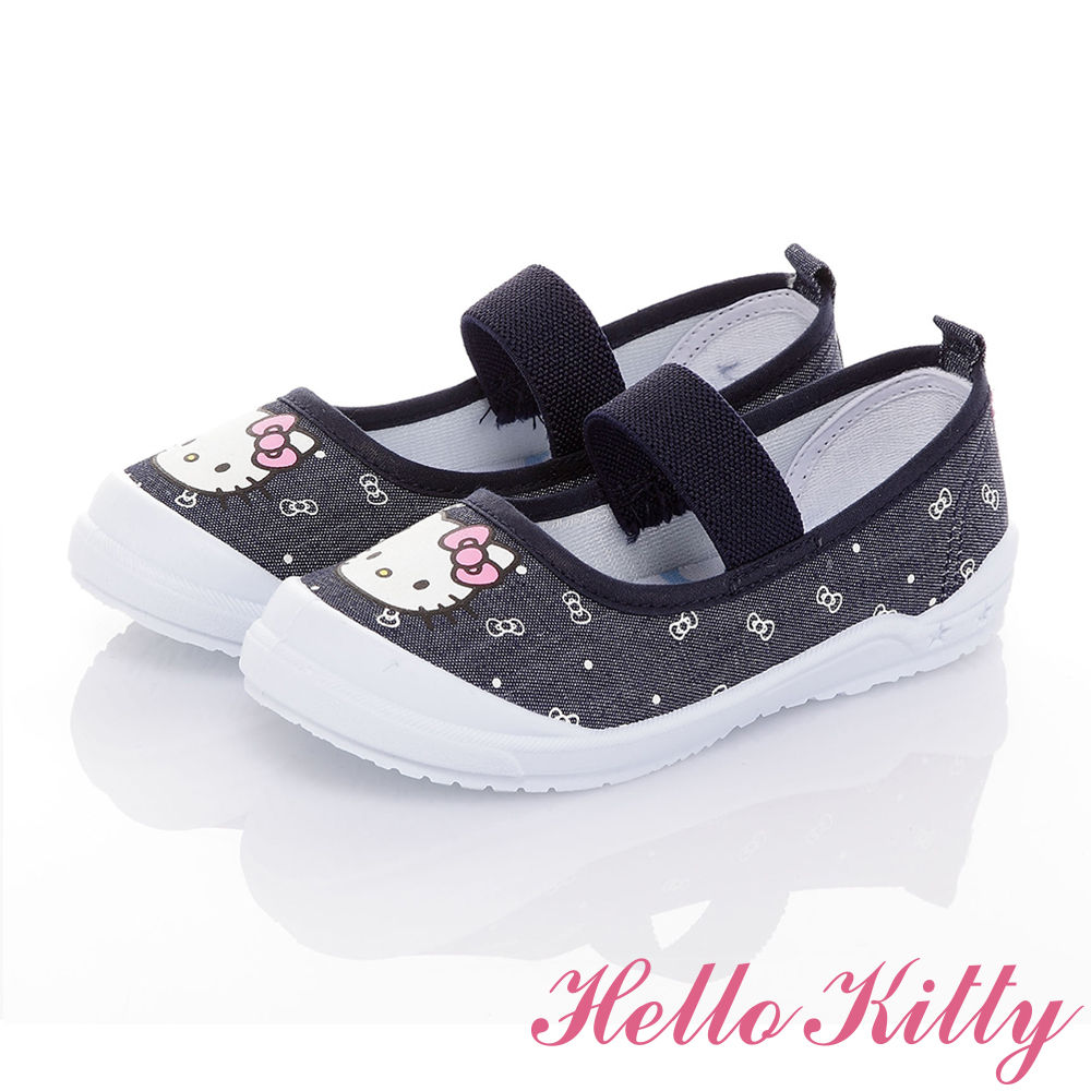 HelloKitty童鞋 牛仔系列 輕量抗菌防臭室內外娃娃鞋-藍