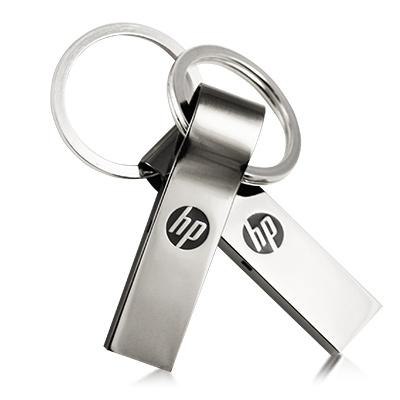 HP ◤鋅合金◢ 16GB 鑰匙圈防水隨身碟 v285w