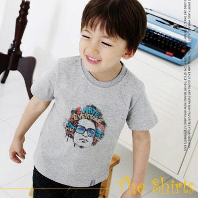 【The Shirts】搖滾黑人頭短袖T恤 (白色)