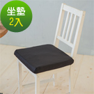凱蕾絲帝-台灣製造-久坐專用二合一高支撐記憶聚合紓壓坐墊-黑-2入