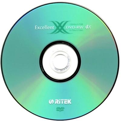 錸德 Ritek X 版 4X DVD-RW 4.7GB (10布丁桶裝)