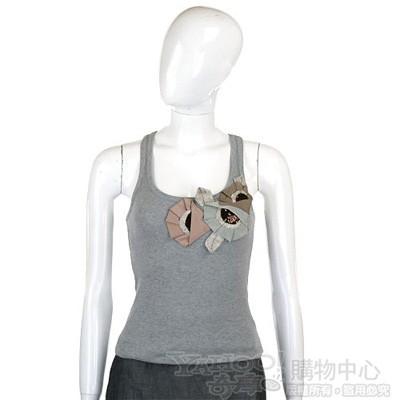 KENZO-antonio marras 灰色立體花飾背心