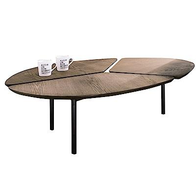 品家居 尼洛4尺胡桃木紋大茶几-119x80x36cm免組