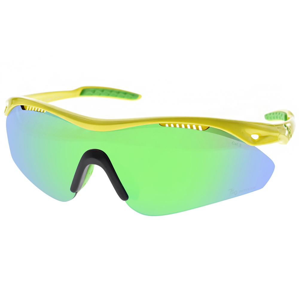 720運動太陽眼鏡 三鐵運動設計款/黃-綠藍水銀#720B355 C04