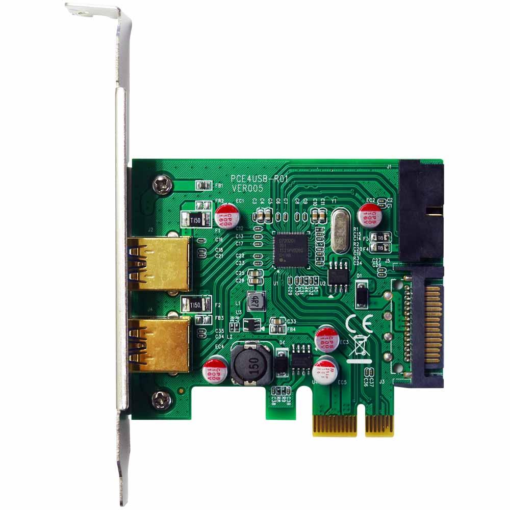 伽利略 PCI-E USB3.0 4 Port擴充卡 (前2-19in+後2)