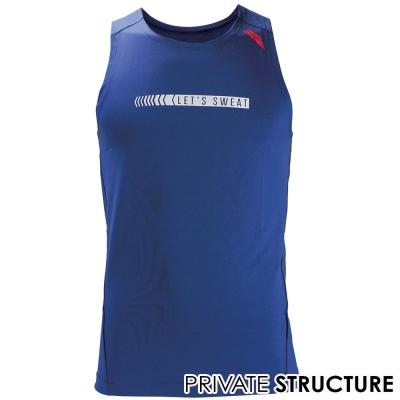 P.S 365GYM快乾型健身路跑運動背心(藍色)