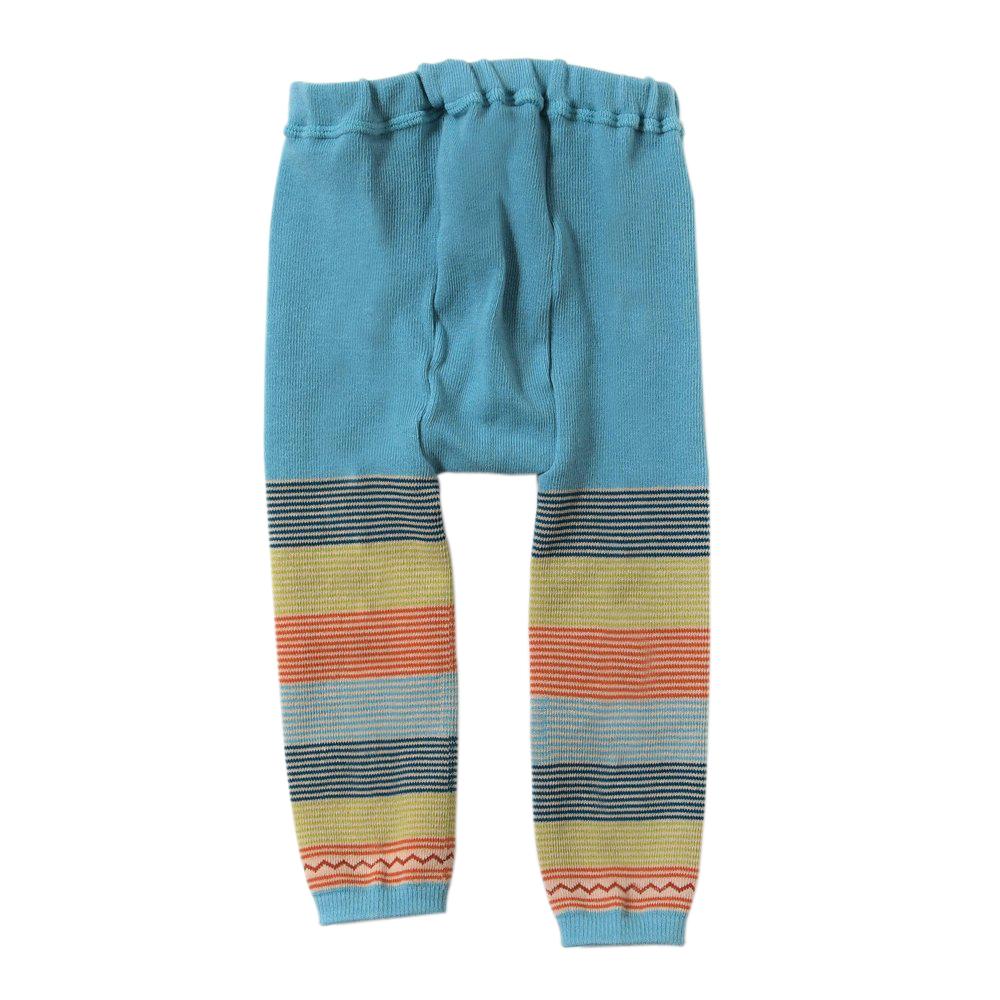【BOBO】繽紛彩虹保暖褲襪(藍)