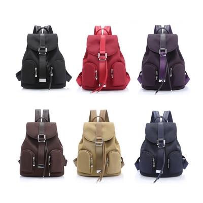 leaper袋荔枝紋配尼龍雙肩後背包-共6色