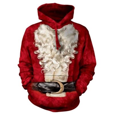 摩達客 美國進口The Mountain 變身聖誕老公公 套頭套頭長袖連帽T恤