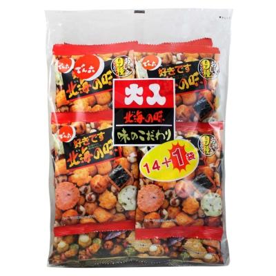 天六 二色綜合14+1大包裝豆果子(351g)