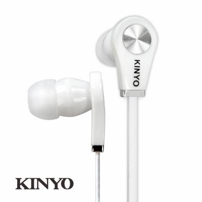 KINYO時尚造型耳機EMP50-時尚白