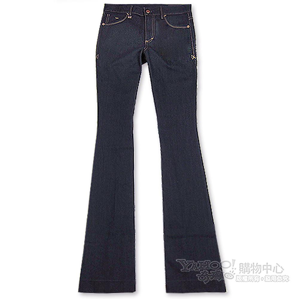 A│X Armani Exchange 素面大喇叭女牛仔褲(深藍)