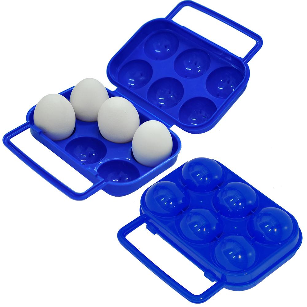 【DIBOTE】外出便攜蛋盒/雞蛋收納盒(6顆裝)
