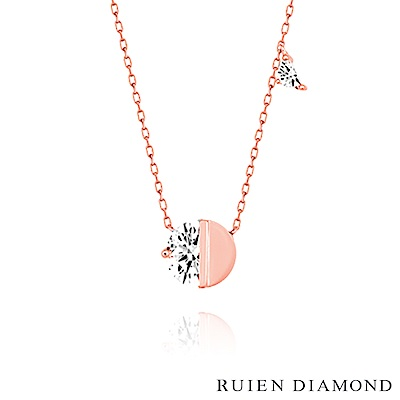 RUIEN DIAMOND 韓國輕珠寶 飾品 配件14K玫瑰金 項鍊 LN085