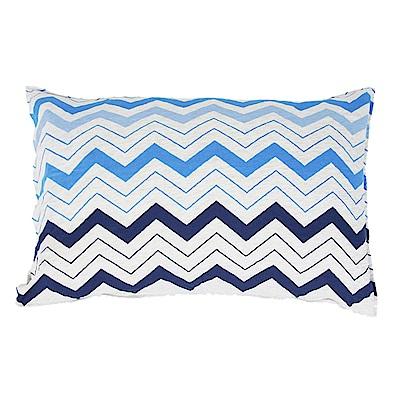 Yvonne Collection 波浪鯨魚枕套-中藍(正:波浪紋/反:淺藍)