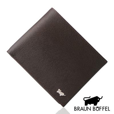 BRAUN BUFFEL - 提貝里烏斯系列12卡透明窗短夾 - 咖啡色