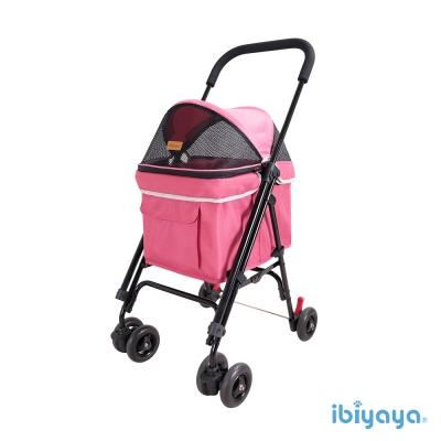 IBIYAYA依比呀呀-FS1732心機寵物小車-莓果粉(機車寵物推車)