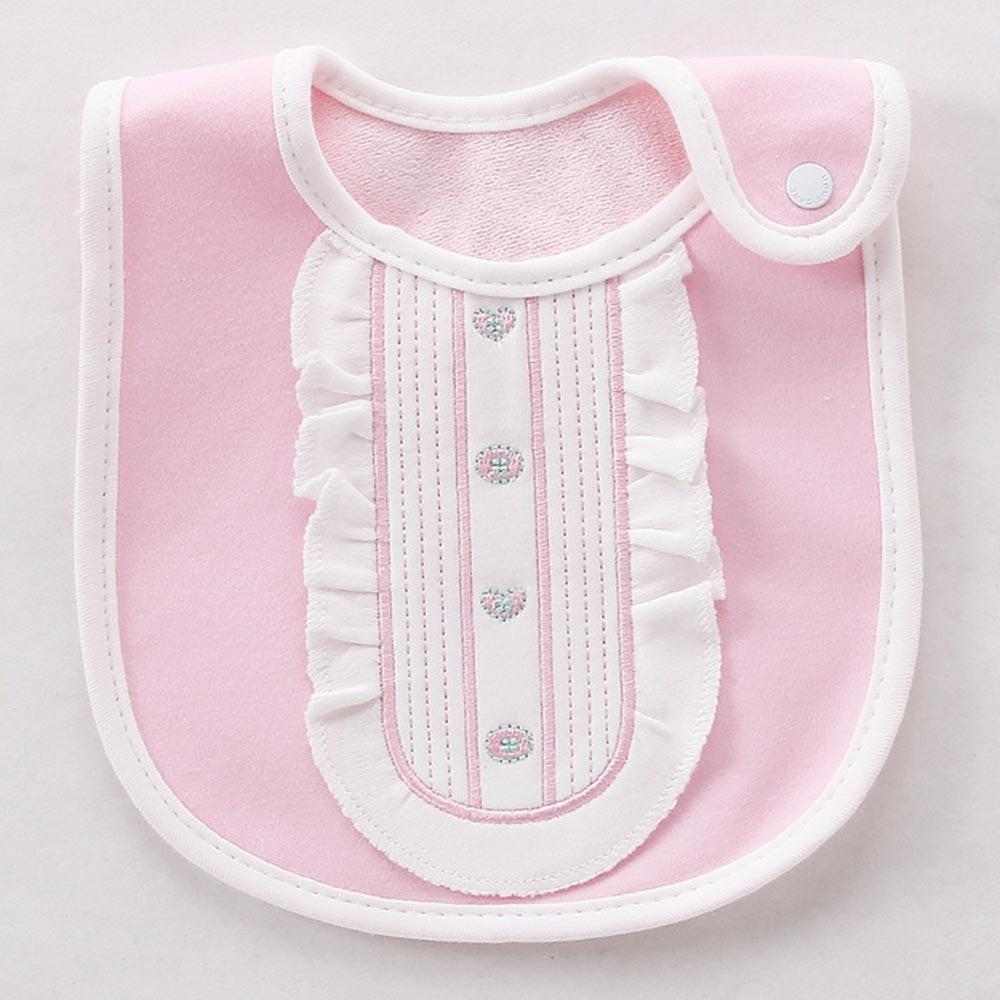 Baby unicorn 粉白淑女造型防水圍兜口水巾