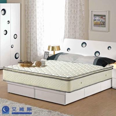 艾維斯 三線立體加厚花布硬式獨立筒床墊-雙人5尺