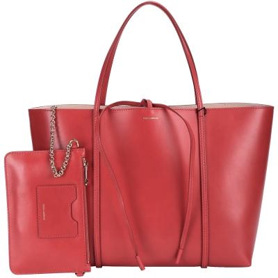 DOLCE & GABBANA ESCAPE 全皮綁結購物包(大/紅色)