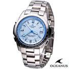 OCEANUS 時尚科技 電波錶(OCW-T100TE-2A)-藍/42mm