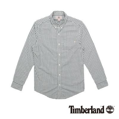 Timberland 男款黑白休閒經典格紋口袋襯衫