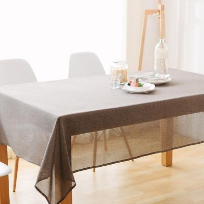 伊美居 - 日系仿麻防潑水桌巾 140cmX140cm 1件(六色可選)