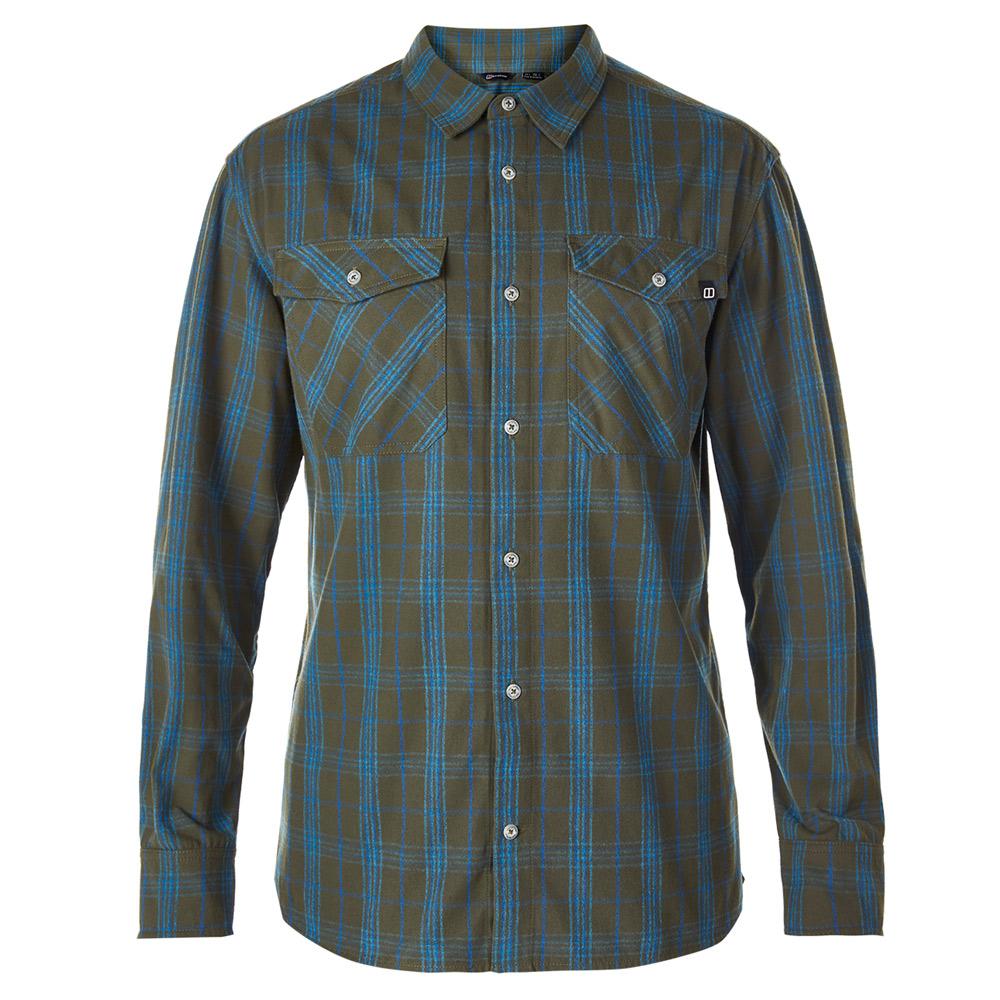 【Berghaus 貝豪斯】男款銀離子UPF50+保暖襯衫C05M01綠