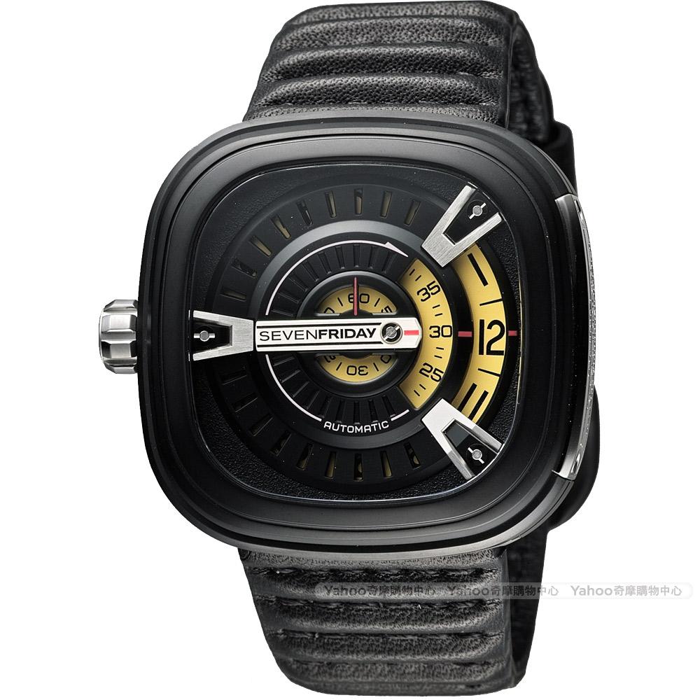 SEVENFRIDAY M2 設計師工藝自動上鍊機械錶-黑/47mm
