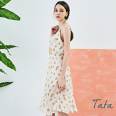 細肩帶印花洋裝 共二色 TATA