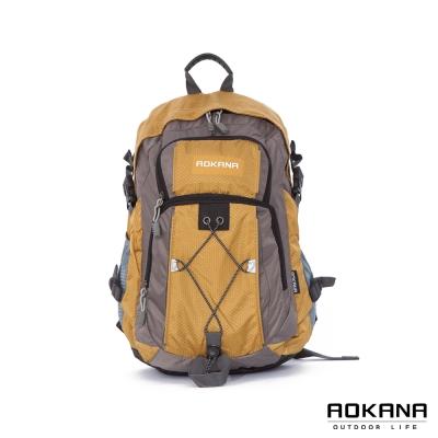 AOKANA奧卡納 - 台灣扣具 輕量護脊紓壓 防潑水機能後背包68-075 - 土黃