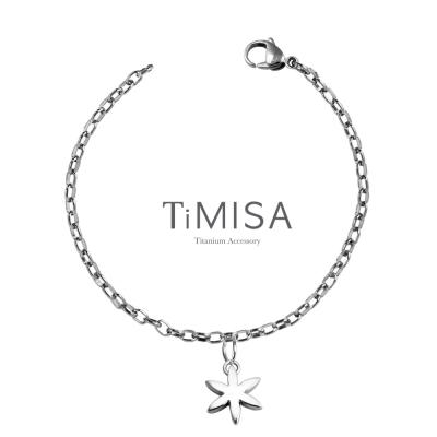 TiMISA 《花漾動感》純鈦腳鍊(S)