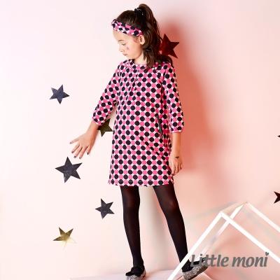 Little moni 幾何印花洋裝 (共2色)