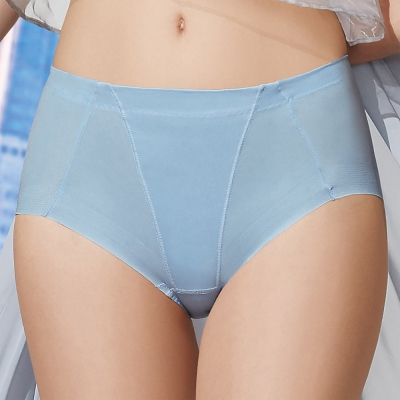 華歌爾 前腰修飾 輕塑型 64-90 高腰三角 冰涼奇異褲(海洋藍 )