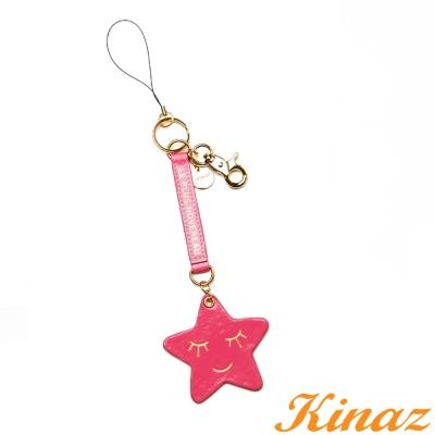 KINAZ- 糖果小物系列~微笑星星SLEEP吊飾-桃