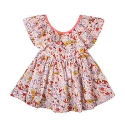 baby童衣 無袖荷葉領 小碎花洋裝 52261