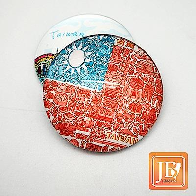 JB DESIGN-文創玻璃磁鐵-729_國旗插畫