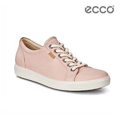 ECCO SOFT 7 LADIES 經典輕巧休閒鞋-粉