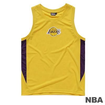 NBA-洛杉磯湖人隊LOGO印花背心-黃 (男)