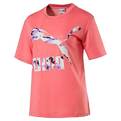 PUMA-女性流行系列經典Logo短袖T恤-海貝粉-亞規