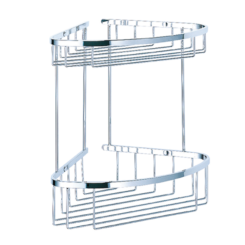 Bachor 不鏽鋼衛浴配件-雙層轉角層架