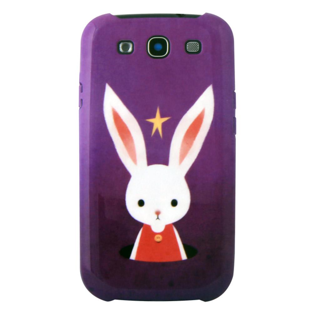 Epicase 插畫設計師 三星Galaxy S3 i9300 抗磨手機殼-小兔的紫色星空