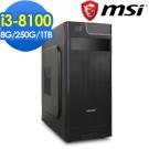 微星 PLAYER【海韻女皇】Intel i3-8100 四核心 極速文書電腦