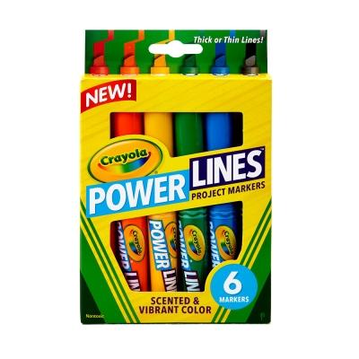 美國crayola 繪兒樂 可水洗香氛美工筆6色(3Y+)