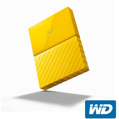WD My Passport 1TB 2.5吋行動硬碟(WESN)-黃色系