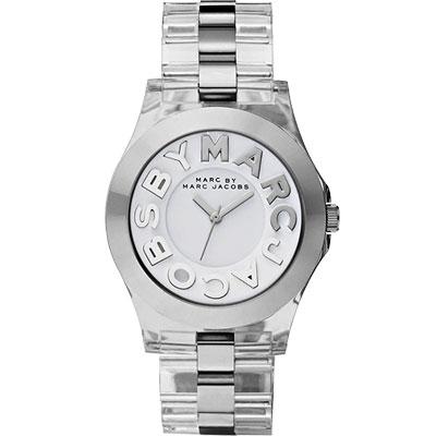 Marc Jacobs MARC 繽紛玻麗腕錶-透明/40mm