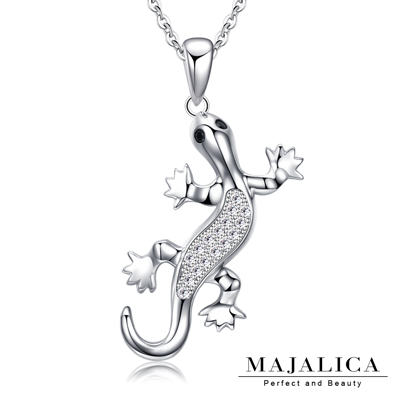 Majalica純銀項鍊密釘鑲 小蜥蜴925純銀