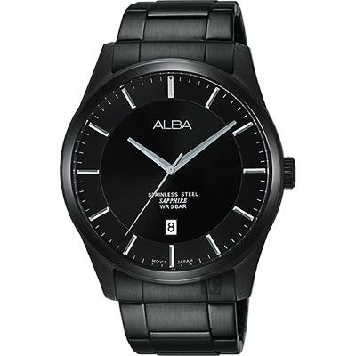 ALBA 城市簡約時尚腕錶(AS9C91X1)-鍍黑/40mm