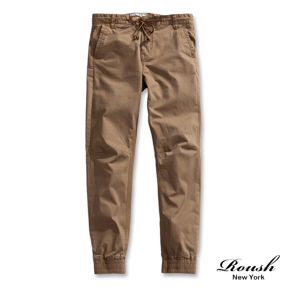 ROUSH 高磅數美式抽繩水洗縮口長褲 (4色)